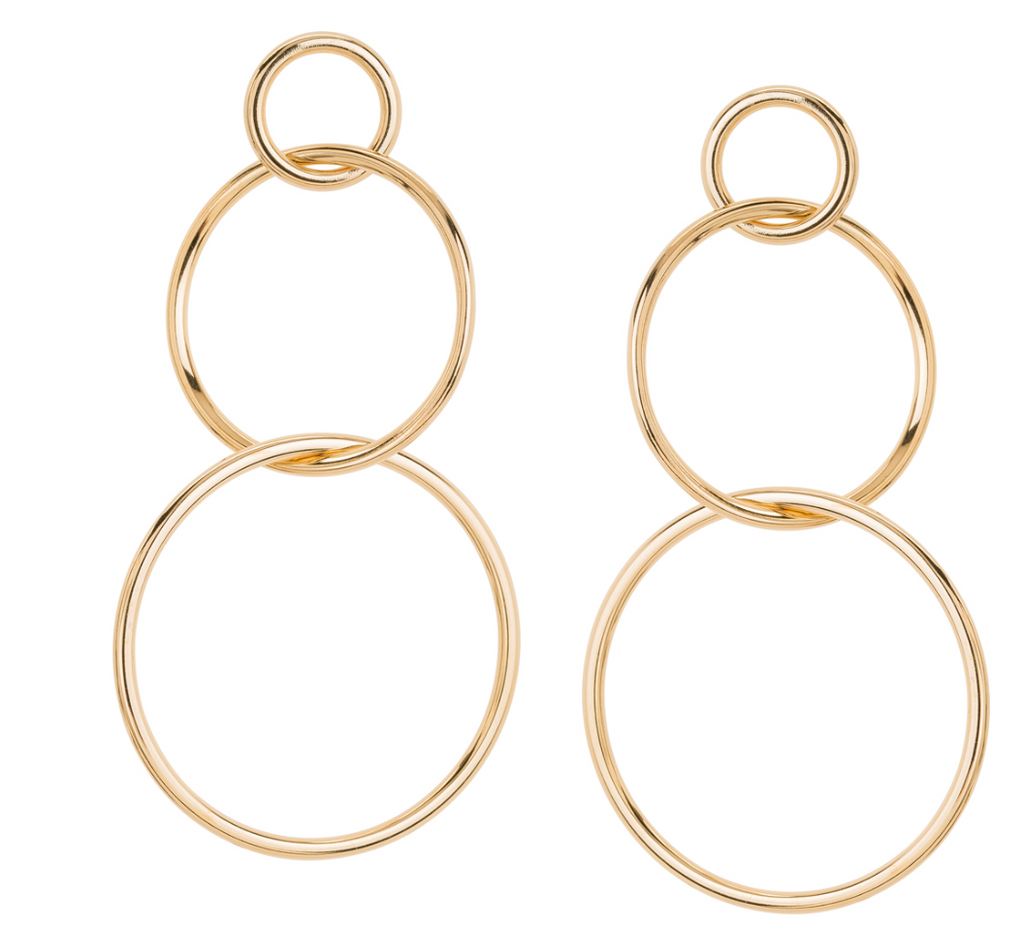 Triple Hoop Earrings (Gold or Silver)
