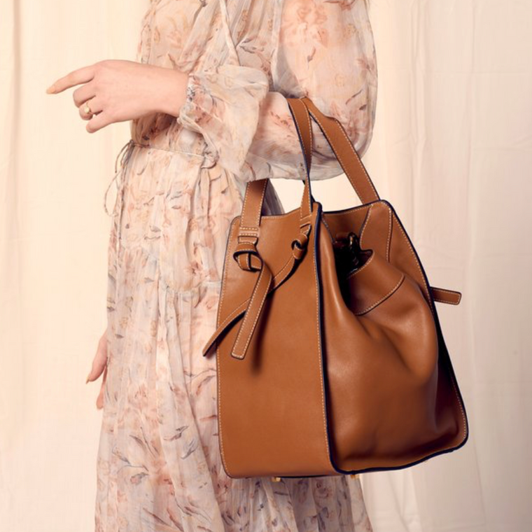 Emm Kuo Caramel Bowery Expandable Tote