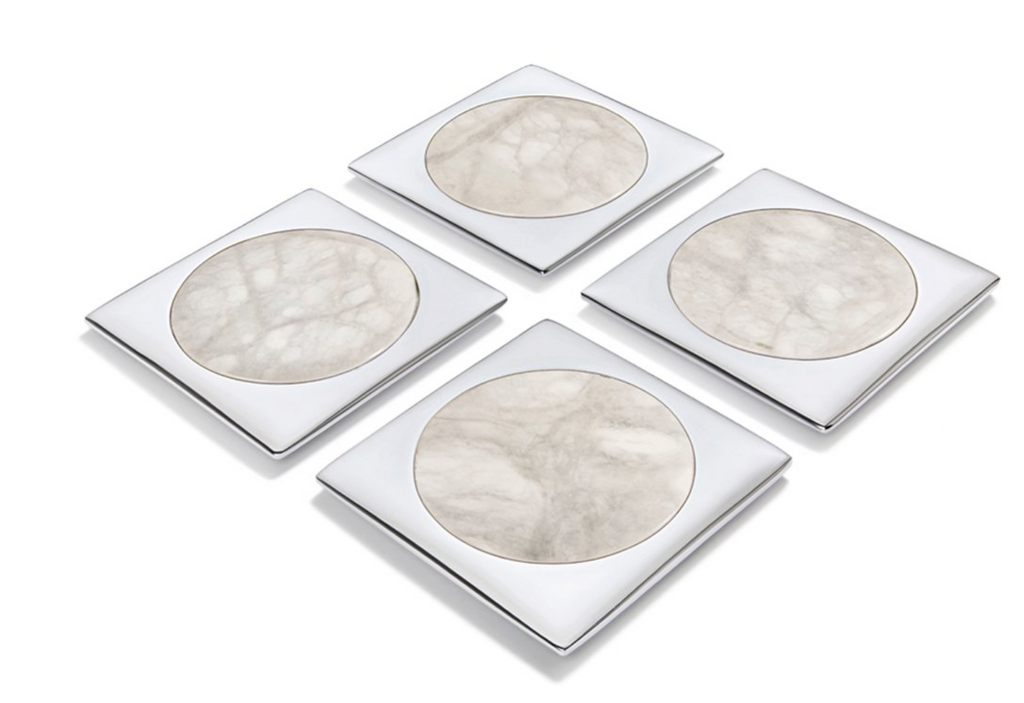Silver & Marble Coasters
