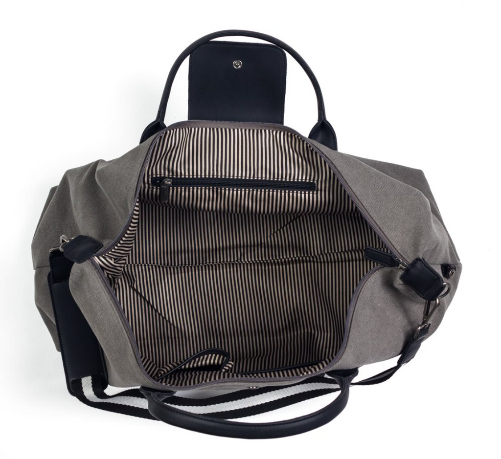 Brouk&Co Grey Stripe Duffle Bag