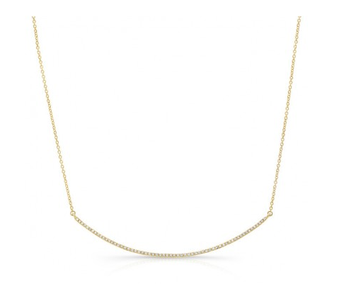 Diamond Large Crescent Necklace
