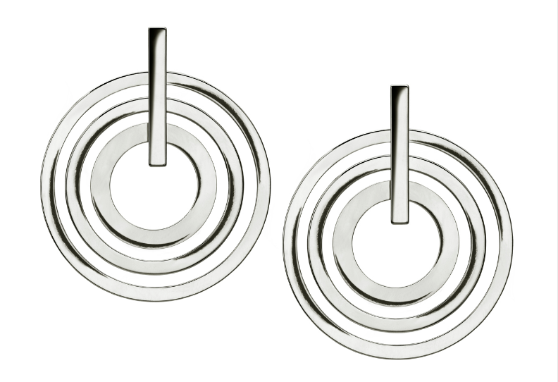 Silver Multi Hoop Large Earring
