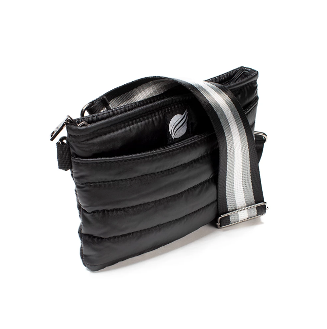 Think Royln Black Nylon Fanny Pack