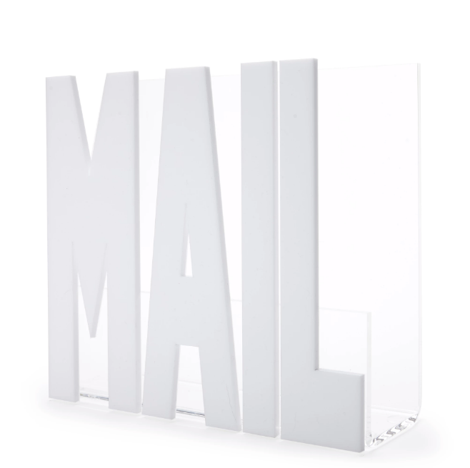 Mail Holder White/Gold/Silver