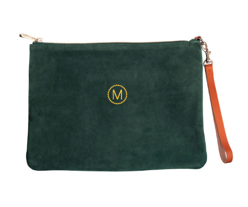 Large Suede Pouch w/ Monogramming
