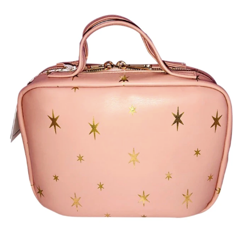 Blush Stars Luxe Travel Case