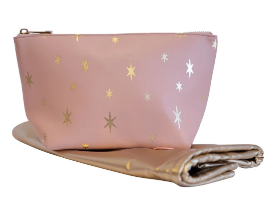 Blush Stars Luxe Triangle Case