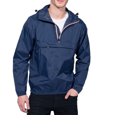 O8 Lifestyle Men's Quarter Zip Packable Rain Jacket