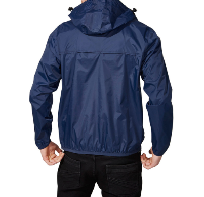 O8 Lifestyle Men's Navy Full Zip Packable Jacket