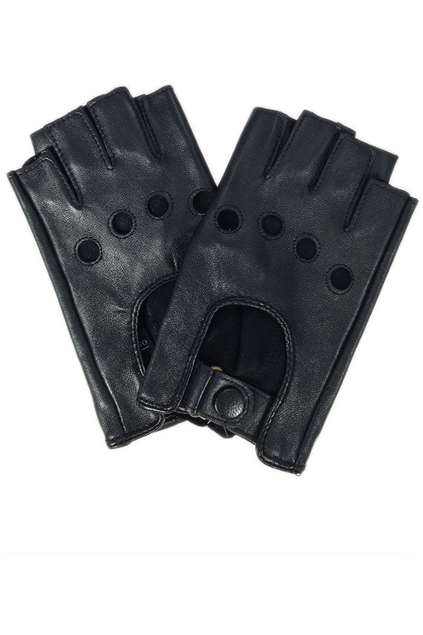 Glove Fingerless Leather Driver
