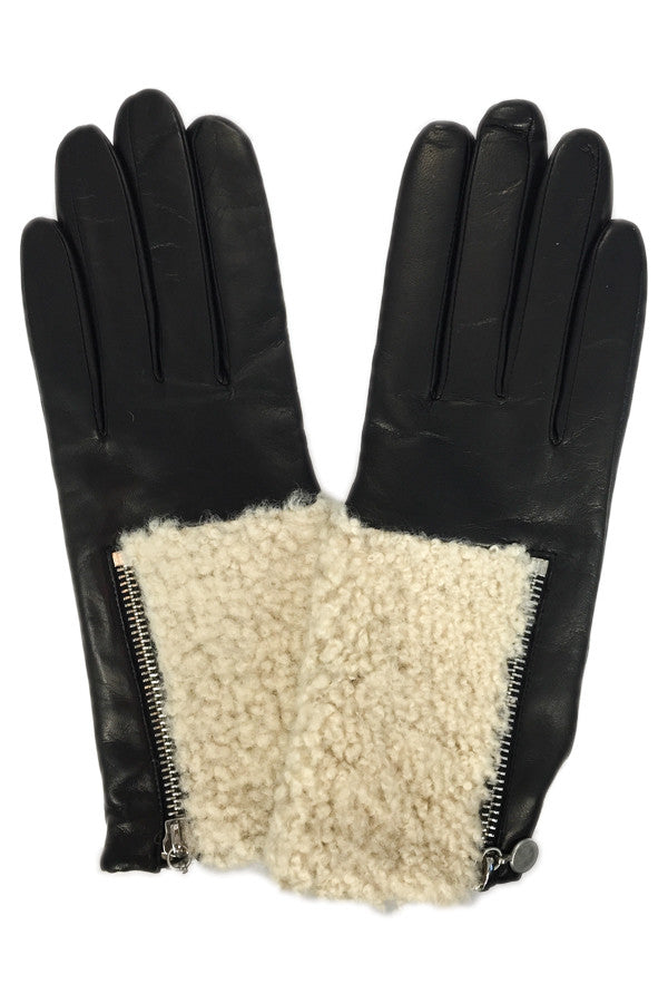 Glove Leather w/ Shearling & Zipper