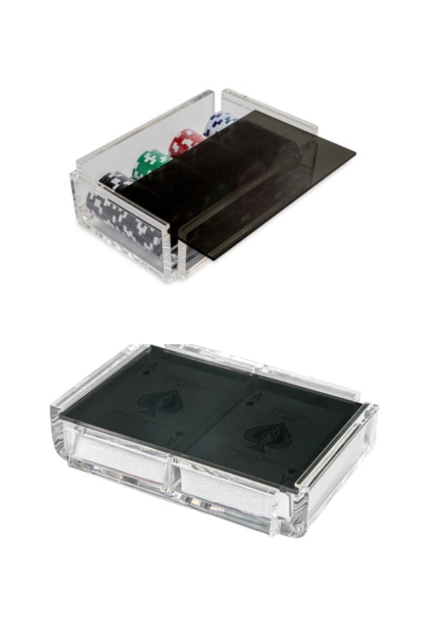 """LA FICHA & LA PINTA"" Luxe Dominos Acrylic Poker & Card Deck Set (Various Colors)"