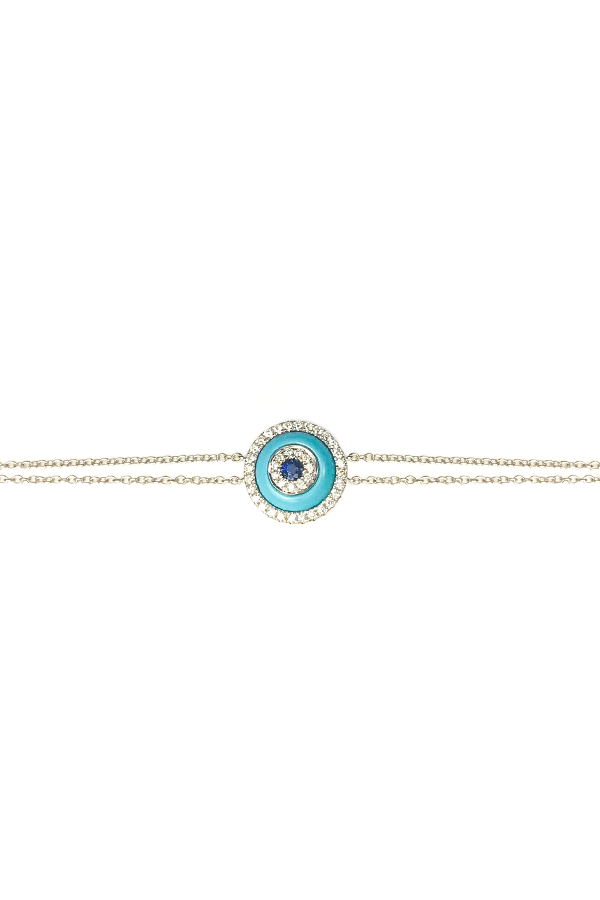 Turquoise & Diamond Evil Eye