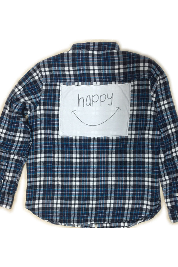 Flannel with T-shirt Patch