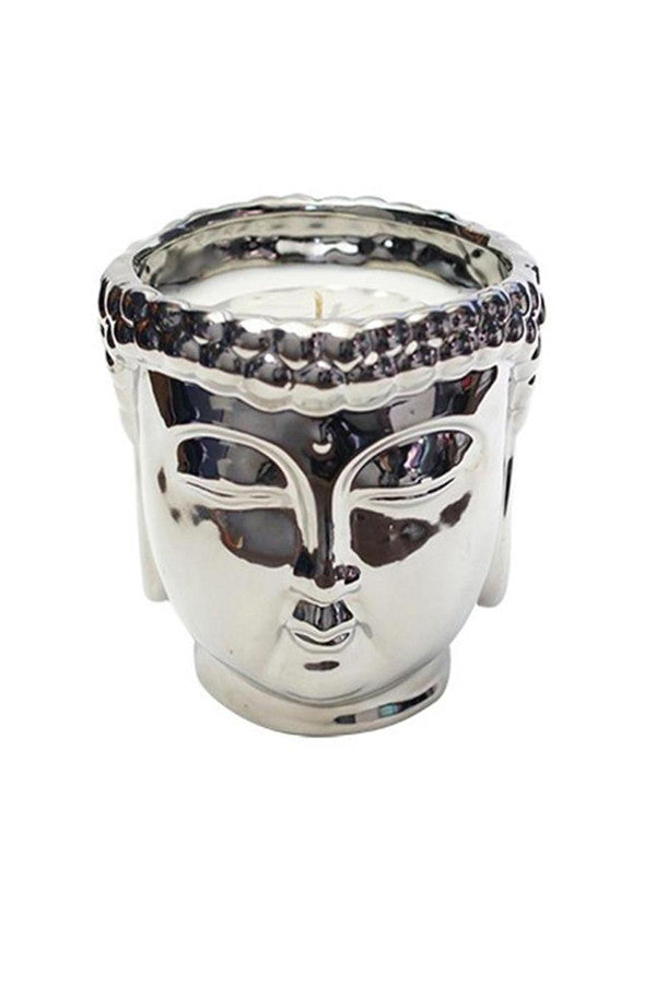 Thompson Ferrier Silver Buddha Candle