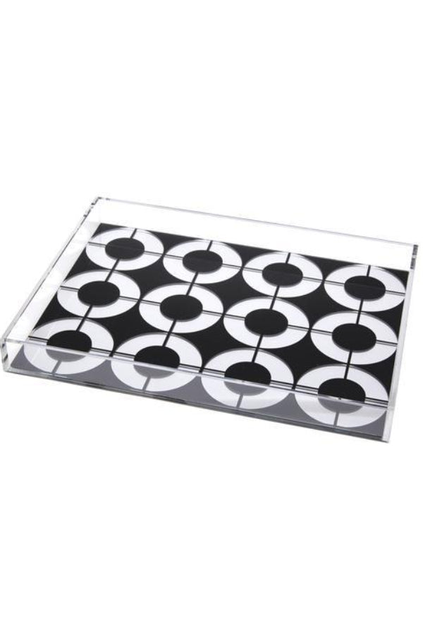 Black/White/Blue Circle Tray