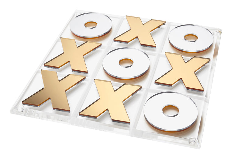 Tic Tac Toe Game Gold&Silver