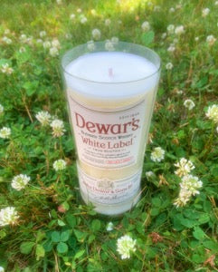 Dewar's Blended Scotch Whiskey White Label Candle