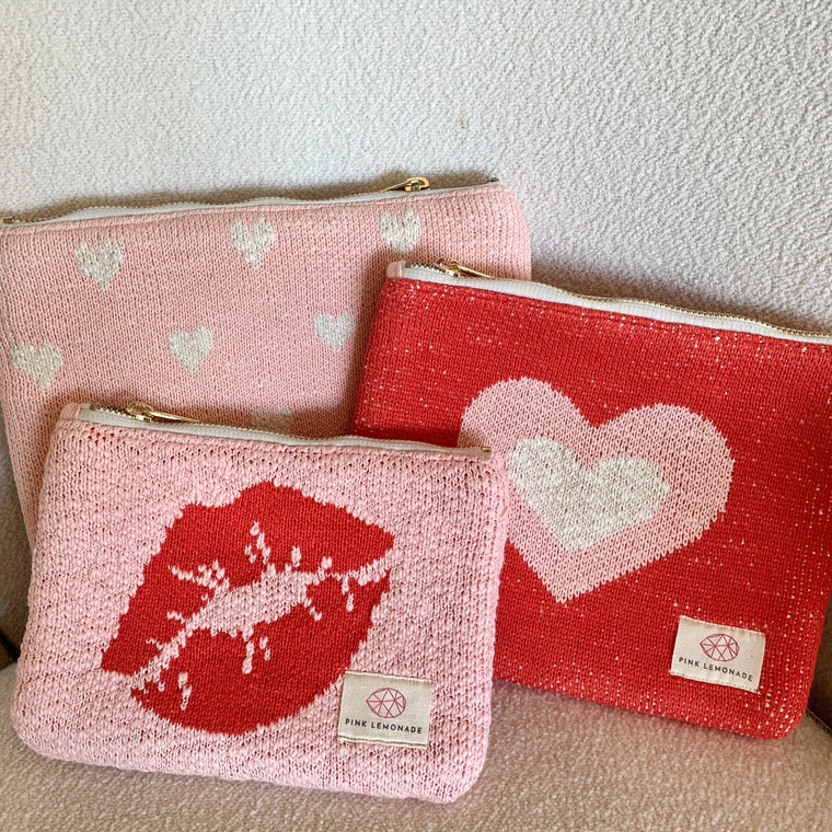 Hearts/Kisses Pouch Set