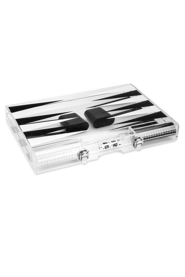 Backgammon Set Clear Lucite