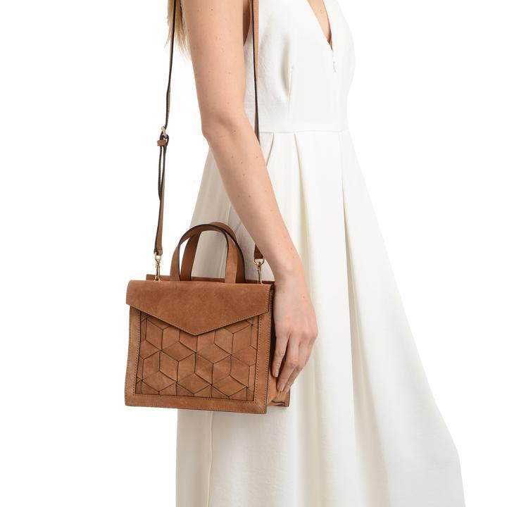 Welden Voyager Tan Small Flap Satchel