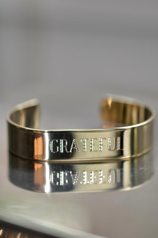 Gold Wide Mantra Cuffs