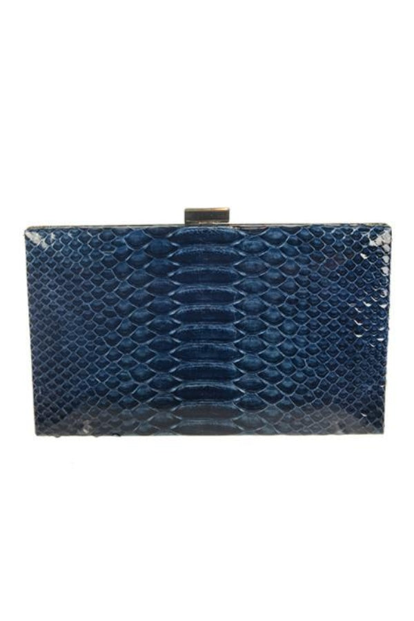 Clutch Snakeskin Glazed Midnight Blue