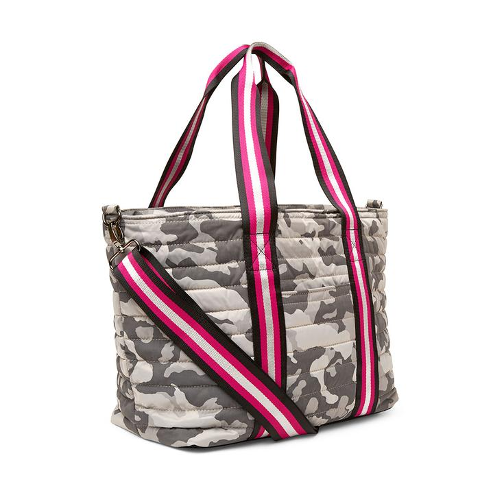 Think Royln Wingman Grey Camo Jacquard Nylon Tote