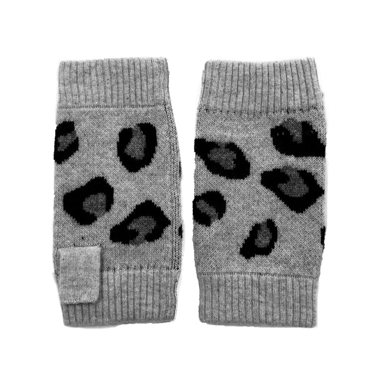 Cashmere Leopard Wrist Warmer Grey or Hot Pink