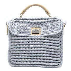 Large Light Grey/Silver Baghera Bag