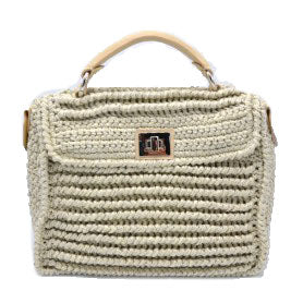 Large Cream/White Baghera Bag