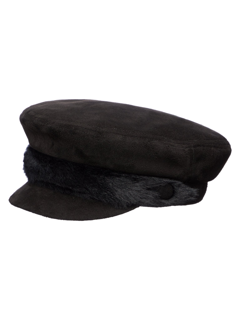 Black/Black Baker Boy Hat