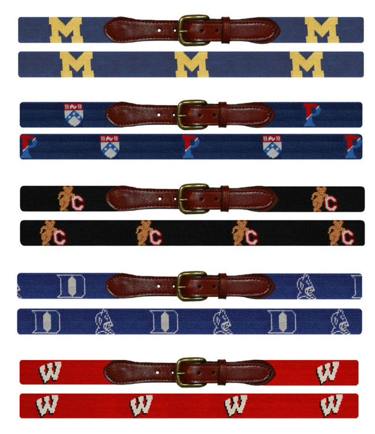 Men's Needlepoint Belts (College)