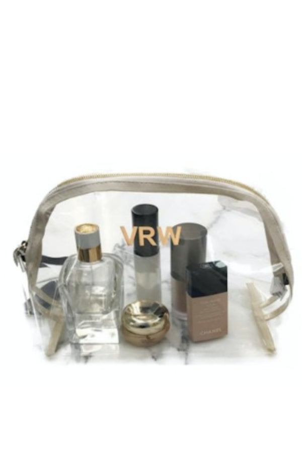 Large Clear Pouch w/ Monogramming