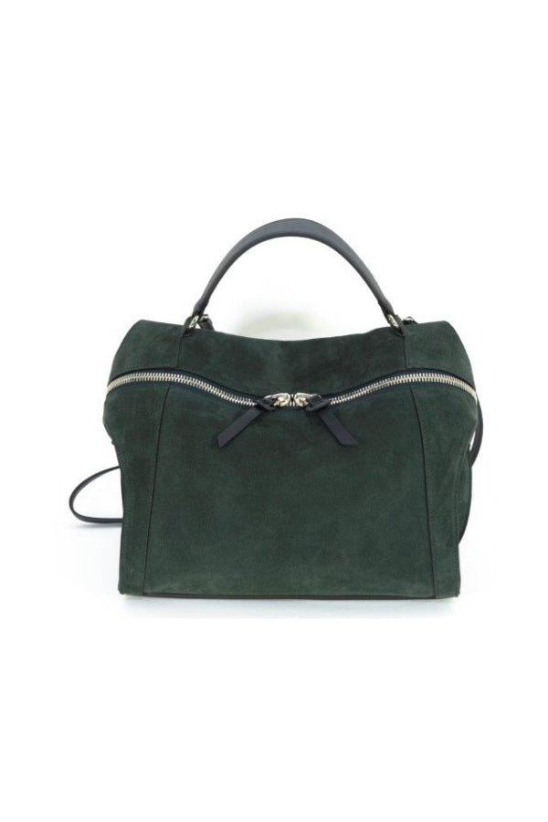 Small Green Suede Satchel