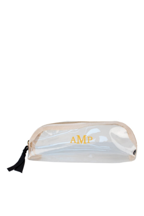 Small Rounded Clear Pouch w/ Monogramming