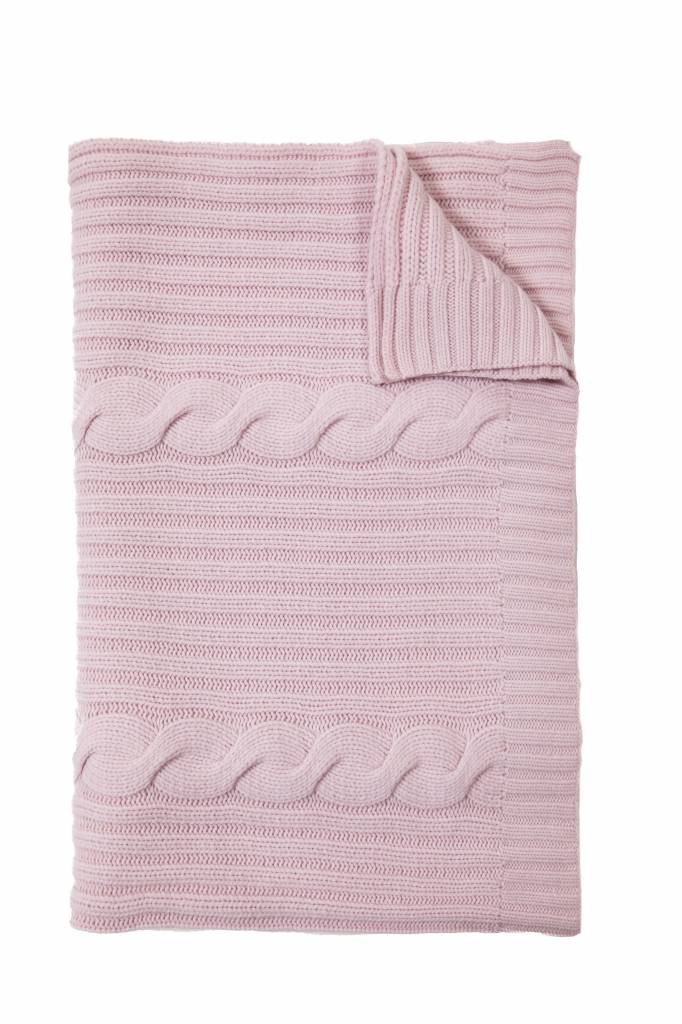 100% Cashmere Throw Pink/Lilac