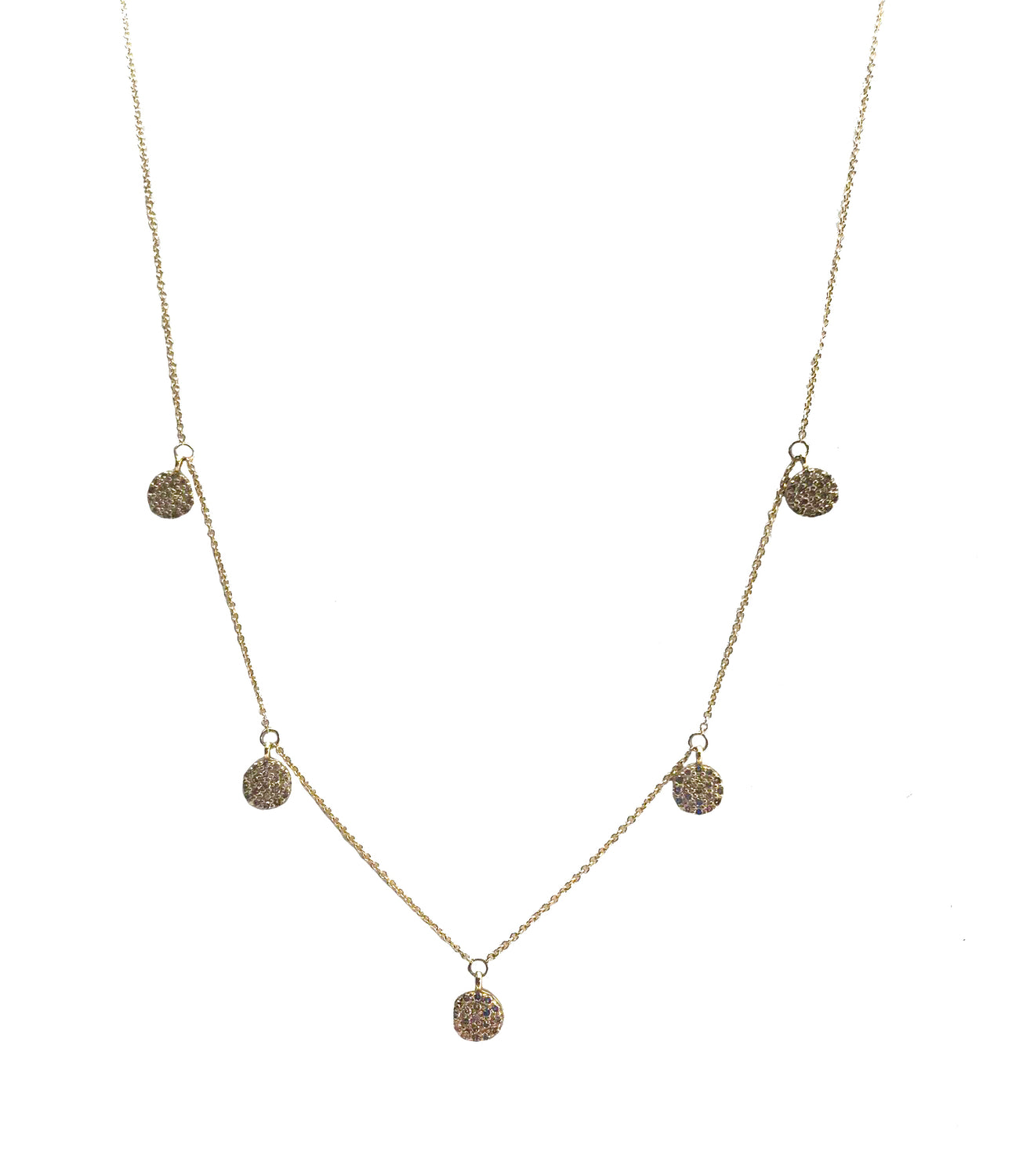 Diamond Discs Necklace
