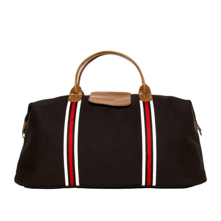 Brouk&Co Black Stripe Duffle Bag