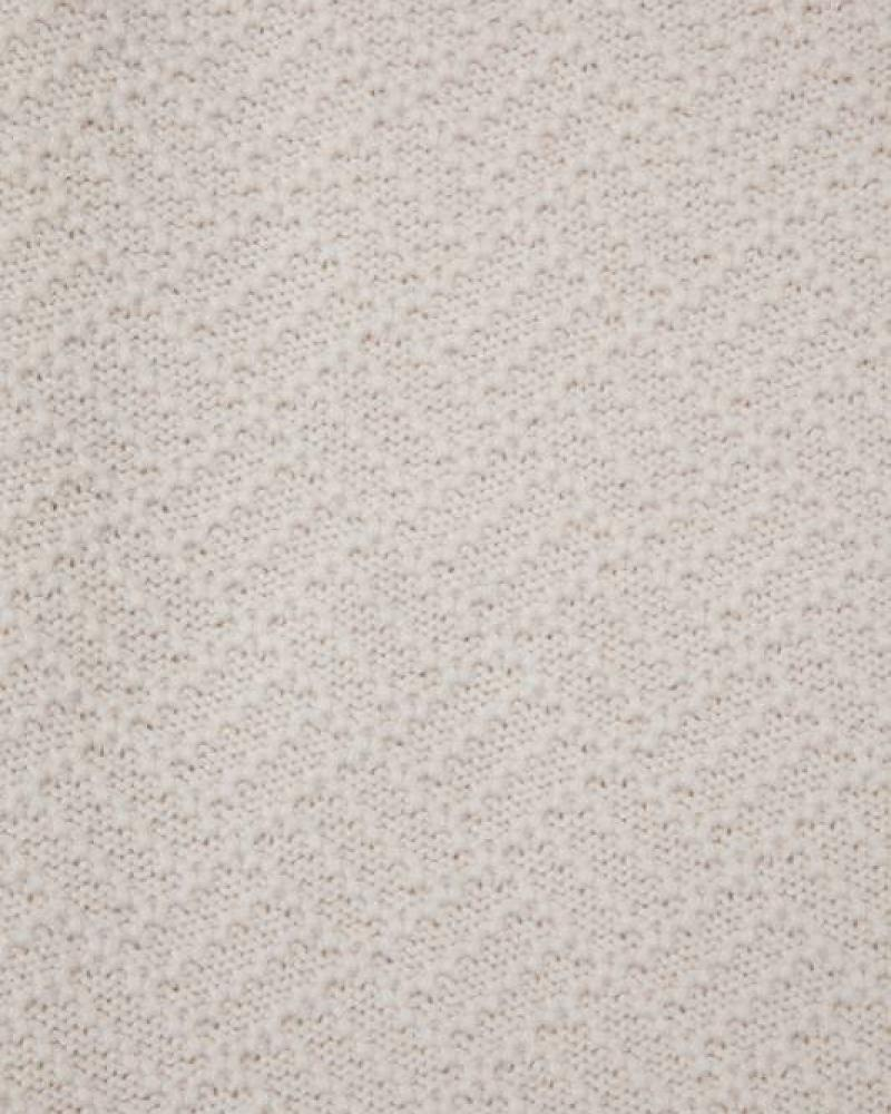 100% Cashmere Baby Blanket Ivory