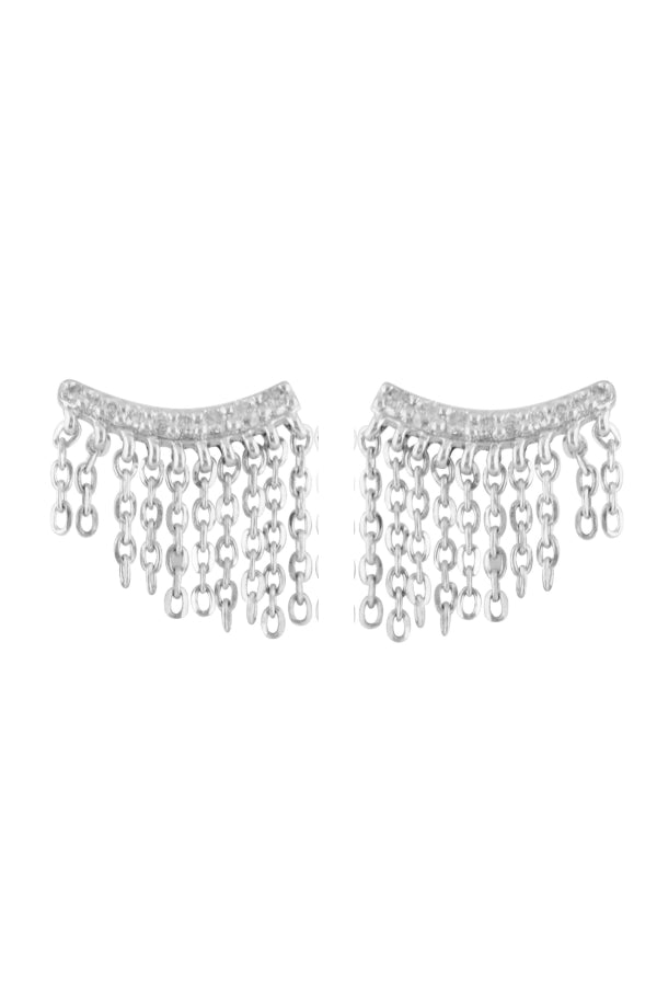 Fringe Diamond Studs
