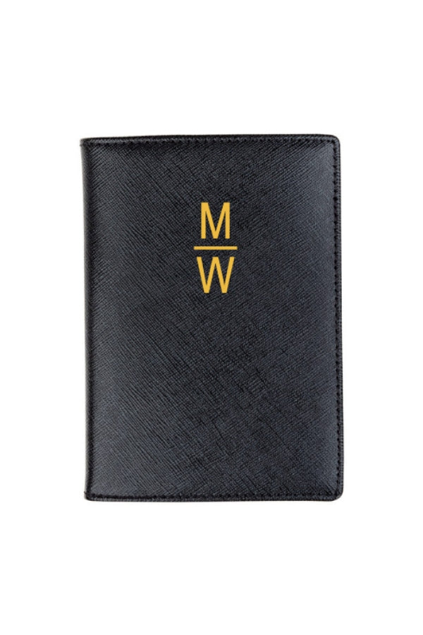 Passport Holder Leather w/ Monogramming