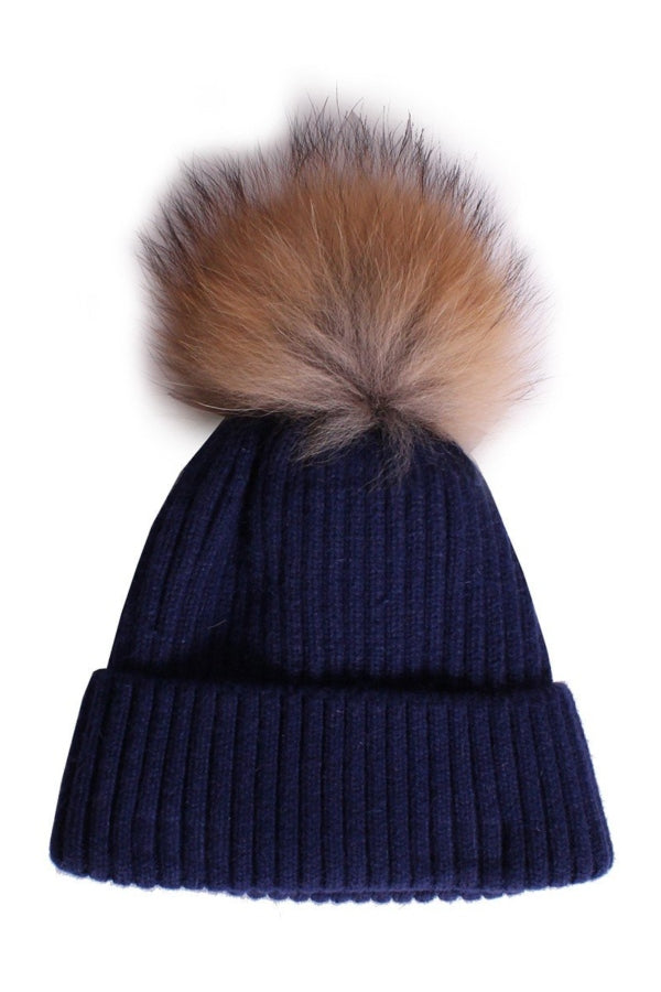 Hat Ribbed Pom Pom (more colors available)