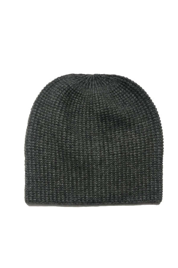 Men's Grey Cashmere Beanie Hat