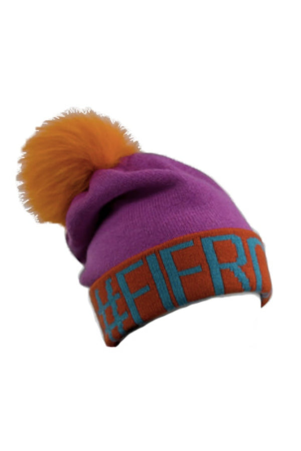 #FIERCE Knitted Fur Pom Hat