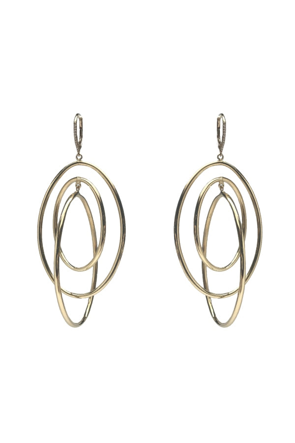 Gold & Diamond Multi Hoop Earring