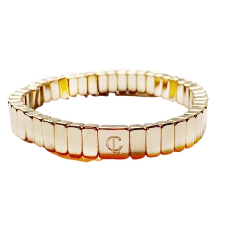 Caryn Lawn All Gold Mini Tile Bracelet