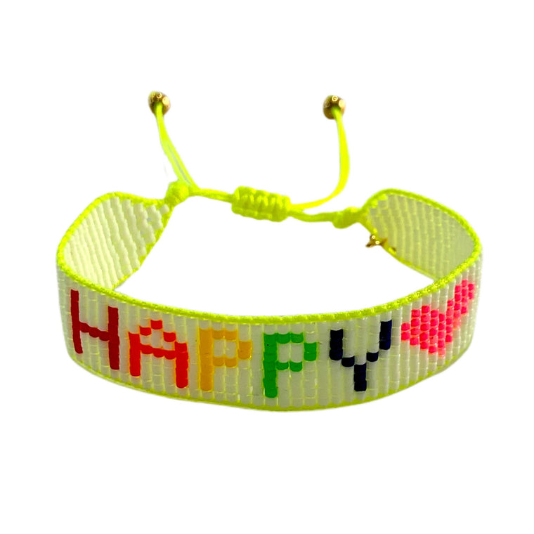 Caryn Lawn Neon Happy Friendship Bracelet