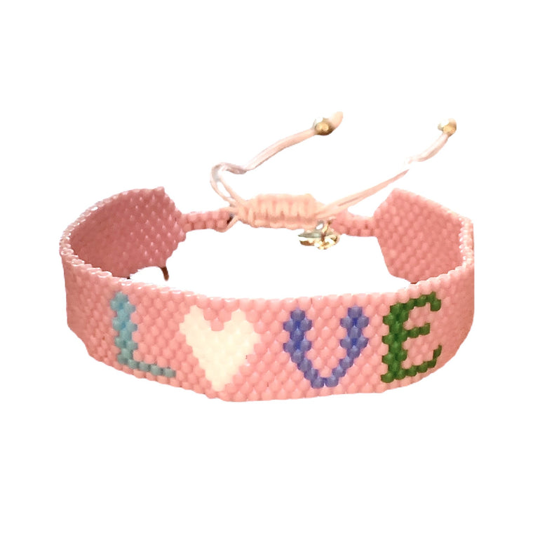 Caryn Lawn Pink Love Friendship Bracelet