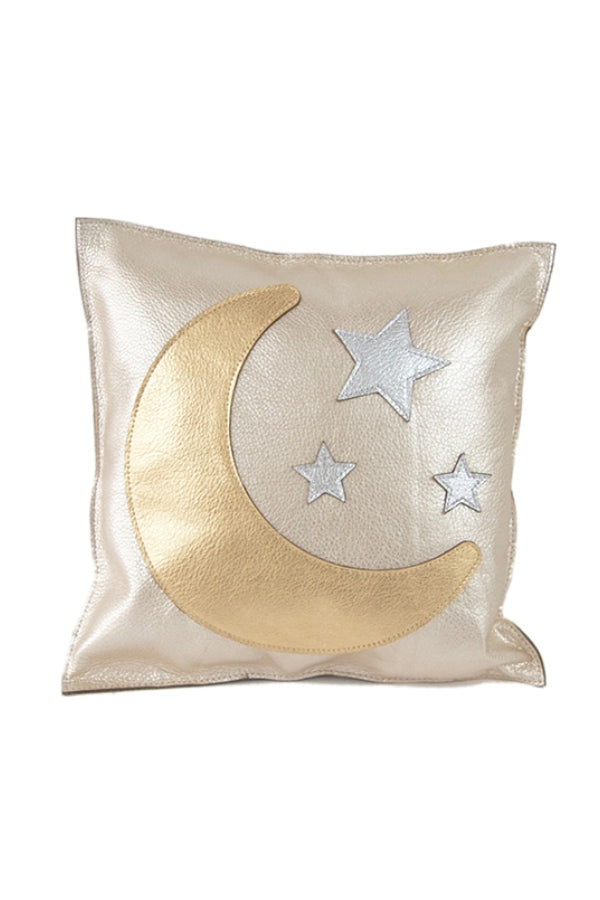Moon & Stars Leather Pillow